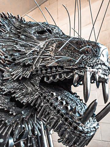 Kali the Tiger by Barefooted Welder Metal Art Sculpture Australia