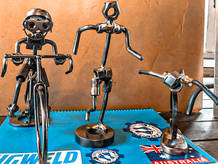 Metal Art Personalised Gifts & Sculptures Home Decoration Cyclists