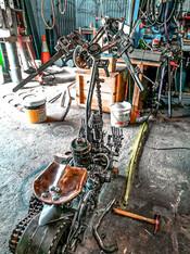 Reapers Ride Motorbike Barefooted Welder Metal Art Sculpture Australia