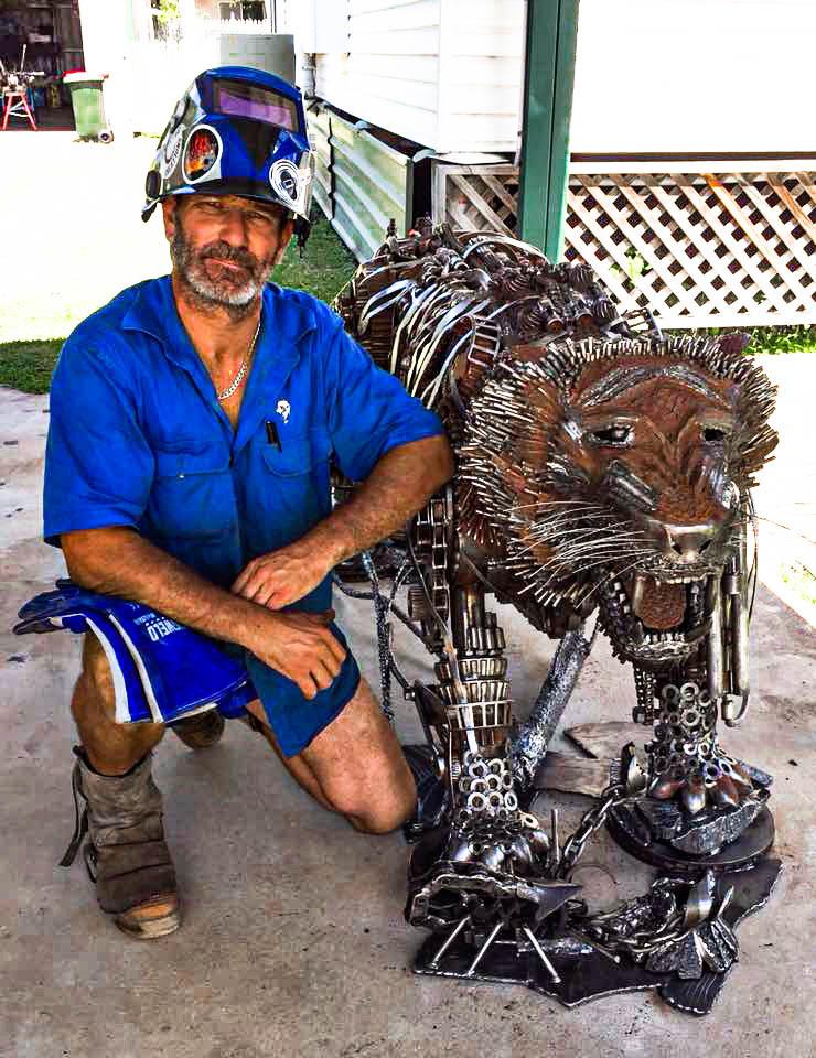 Kali the Tiger by Barefooted Welder Metal Art Sculpture Australia MickyD
