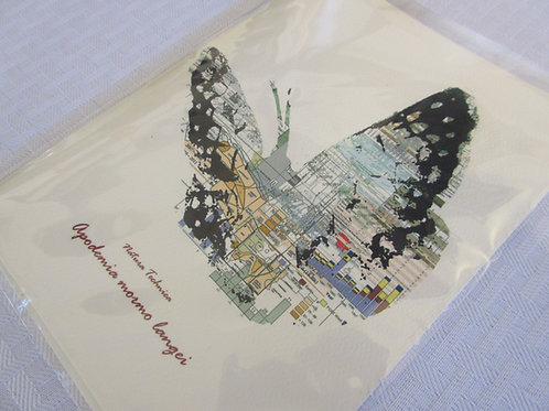 Lange's Metalmark Butterfly - Natura Technica Blank Card and Envelope