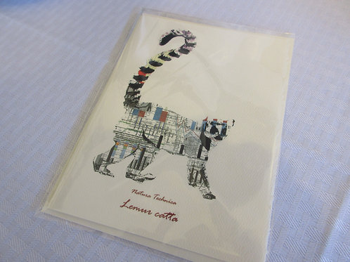Ring Tailed Lemur - Natura Technica Blank Card and Envelope