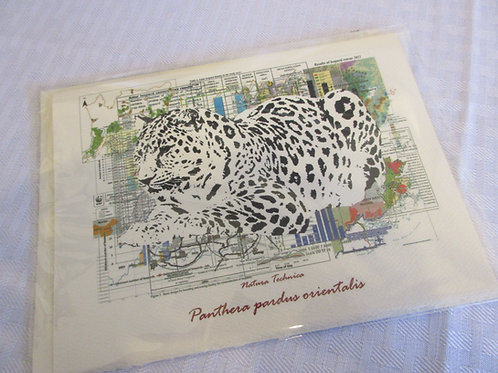 Amur Leopard - Natura Technica Blank Card and Envelope