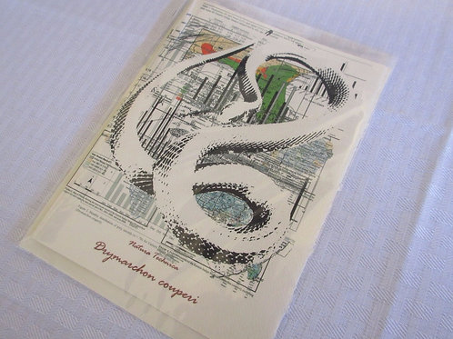 Eastern Indigo Snake - Natura Technica Blank Card and Envelope