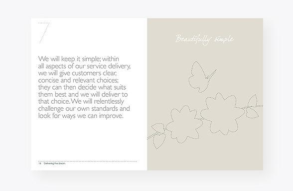 White Company handbook design