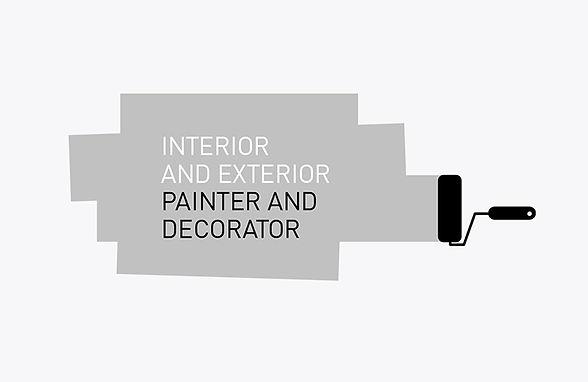 Painter decorator logo design
