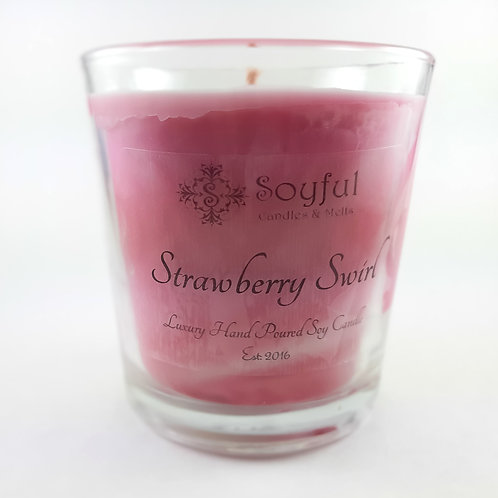 Strawberry Swirl Soy Candle 13 oz