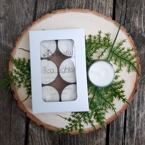 Soy Tea Light Candles (6 Pack)