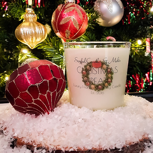 Christmas Wreath Soy Candle 13 oz