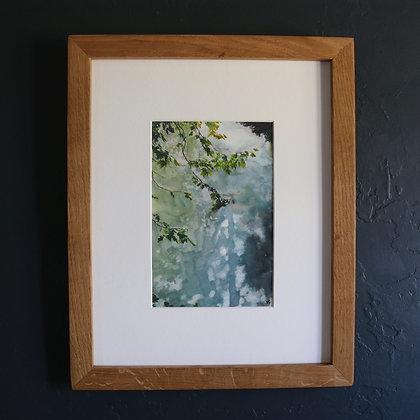 'Blue Sky + Leaves' Painting