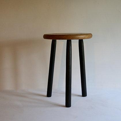 Sample Oak Table with Blackened Legs