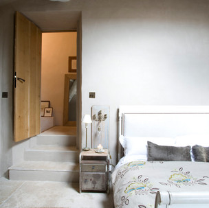 guest bedroom and stairs