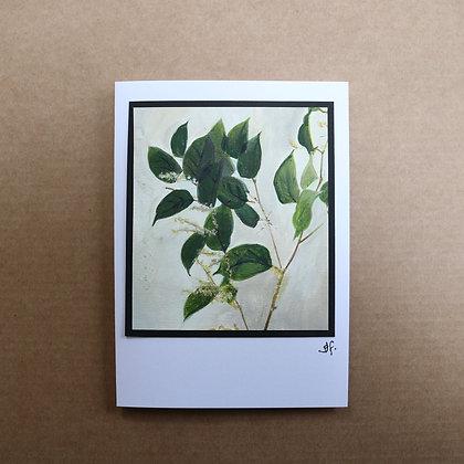'Knotweed' Hand Painted Greetings Card