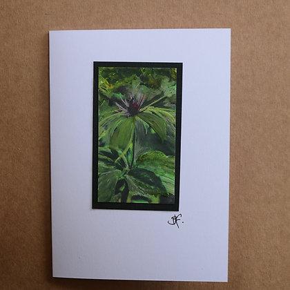 'Satuwa' Hand Painted Greetings Card