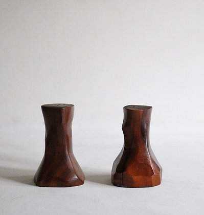 Quirky Salt and Pepper Set in Teak