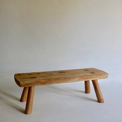 'Edie' Display Stool in Rustic Oak