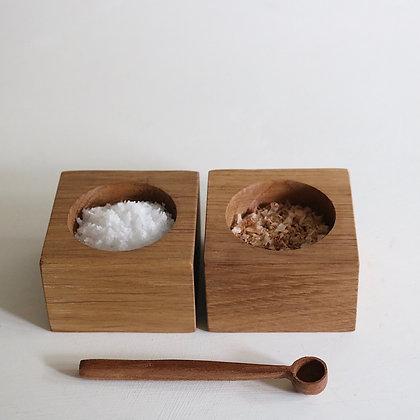 Pair of Pinch Pots in Oak