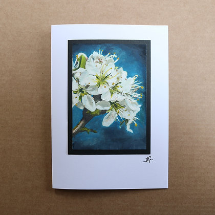 'Blossom' Hand Painted Greeting Card