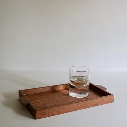 Simple Tray in Brown Oak
