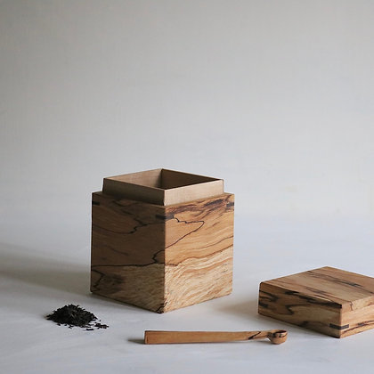 Storage Box in Spalted Beech with Sycamore Lining