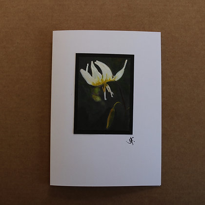 'Lilly' Hand Painted Greetings Card
