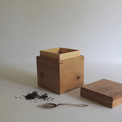 Storage Box in Elm with Sycamore Lining