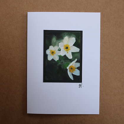 'Wood Anenome' Greetings Card
