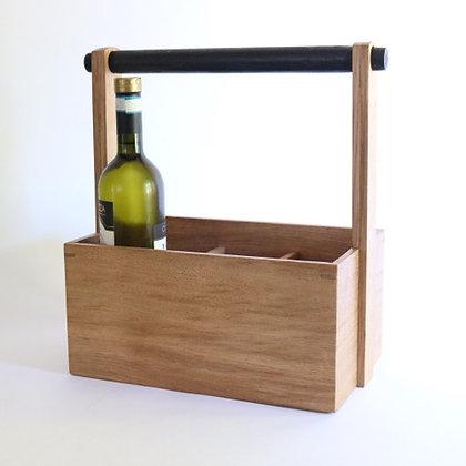 Bottle Carrier in Oak