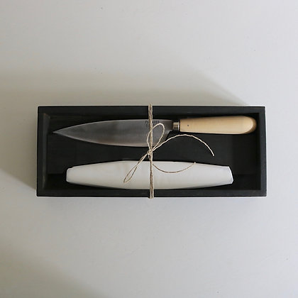 Chef's Knife and Sharpening Stone Set