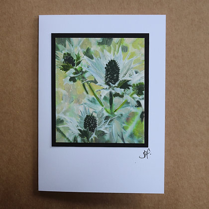 'Thistle' Hand Painted Greetings Card