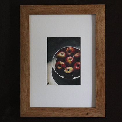'Apples in Porcelain Bowl' Painting