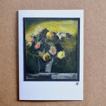 'Roses' Hand Painted Greetings Card