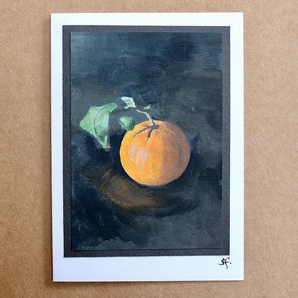 'Orange' Hand Painted Greetings Card