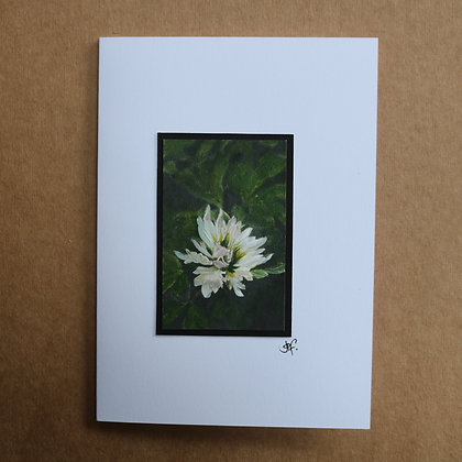 'White Flower' Hand Painted Greetings Card
