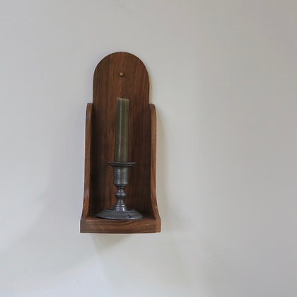 Small Wall Sconce in Walnut