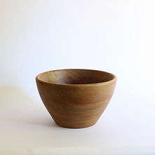 Vintage bowl in teak