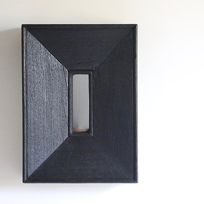 Mirror in Scorched Wood Frame