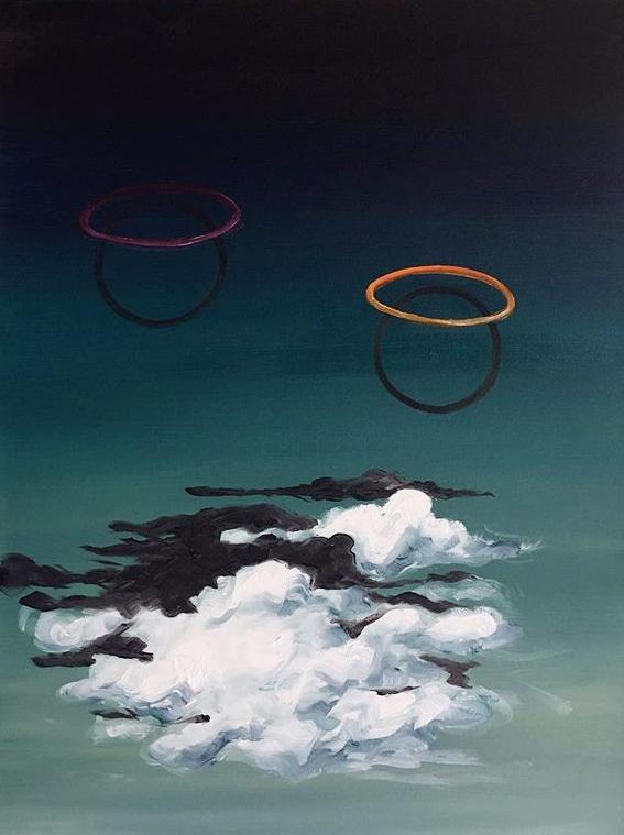 Hula hoops and clouds