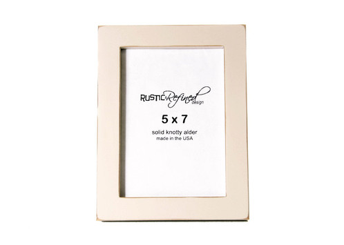 5x7 Gallery 1 Picture Frame Off White
