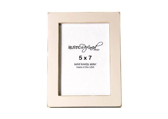 """5x7 Gallery 1"""" picture frame - Off White"""