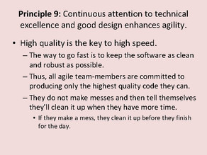 Agile Manifesto: Principle #9