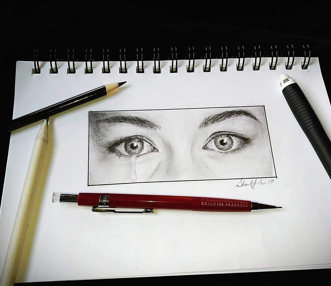 """Liv Tyler's Eyes Sketch"""