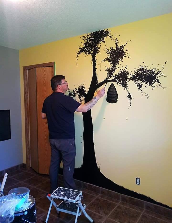 """Mural Progress"""