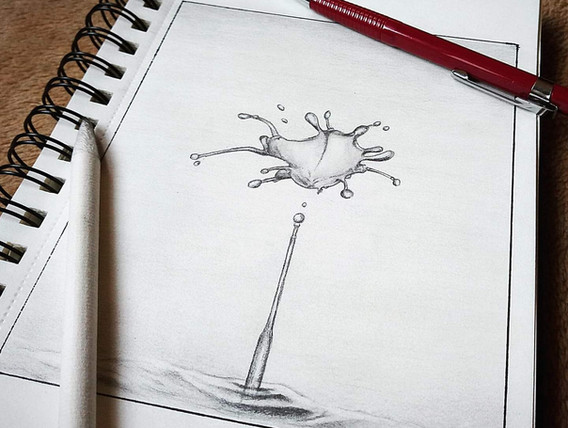 """Water Drop Sketch"""