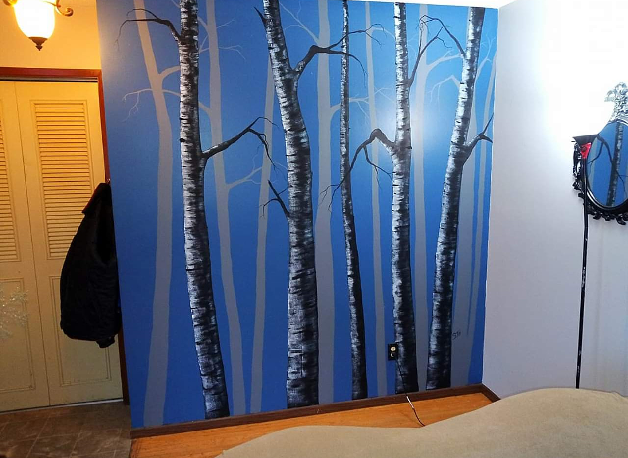 """Birch Mural"""
