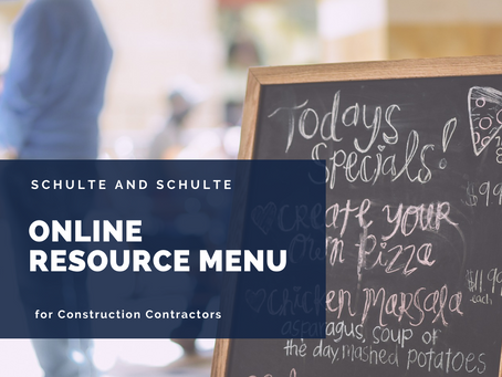 Online Resource Menu for Construction Contractors
