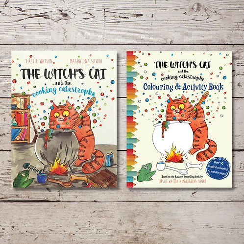 The Witch's Cat and The Cooking Catastrophe Book & Activity Book