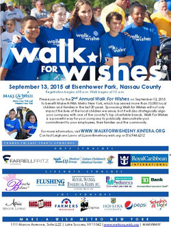 [ Make-A-Wish ] Walk for Wishes
