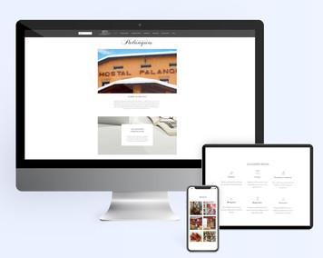 Pàgina web corporativa en format vertical