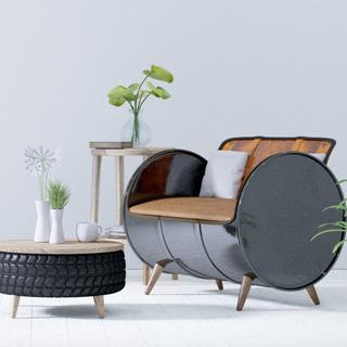 Aprofita els materials reciclats per crear mobles i decoracions originals per a la llar